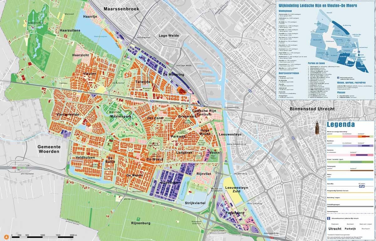 Plattegrond/kaart leidsche Rijn en Vleuten-De Meern