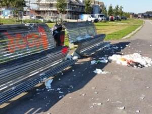 Vandalisme bouwplaats Loenenseboslaan De Meern