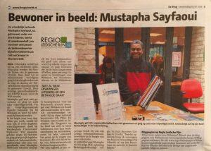 Bewoner in beeld in weekblad De Brug