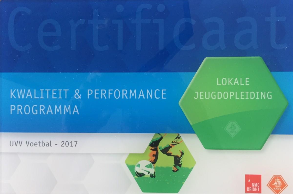 UVV Certificaat Lokale Opleiding 2017