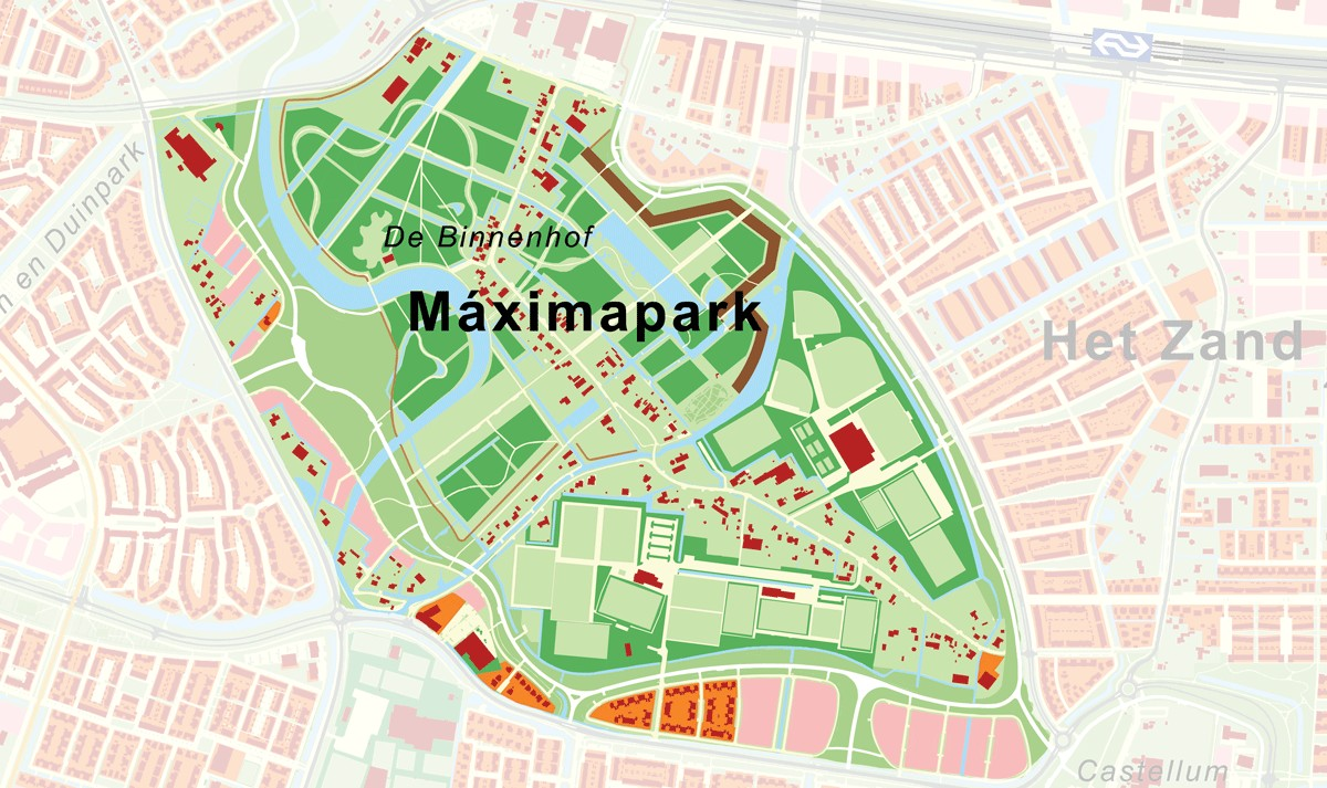 Plattegrond Maximapark kaart