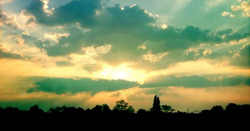 wolken, zon, rust,zen