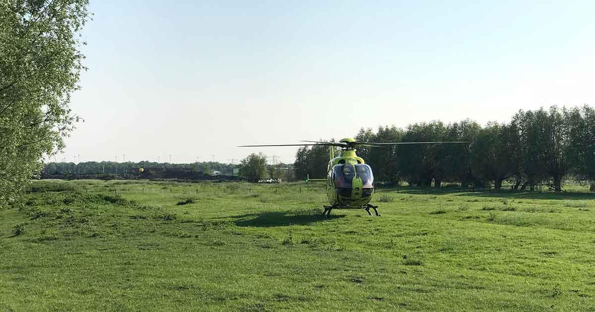 Traumahelikopter-ingezet-bij-ongeluk-met-wielrenner2