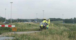 Traumaheli-landt-voor-door-auto-aangereden-fietser_foto_112mediautrecht