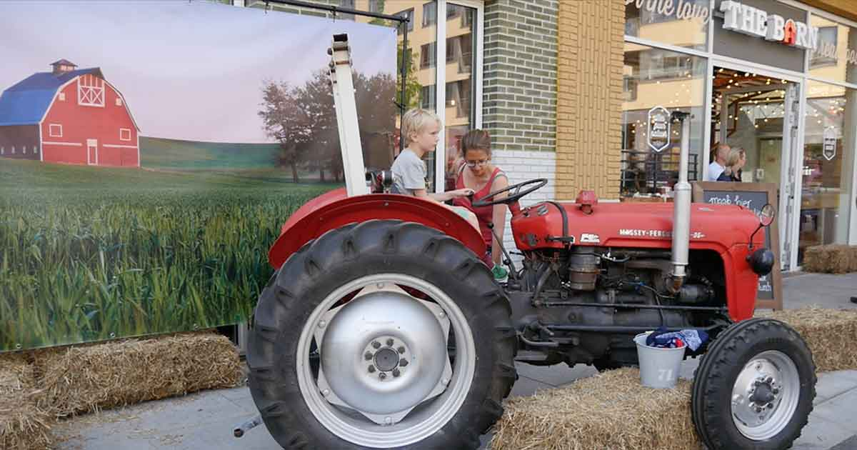 Biologische markt traktor