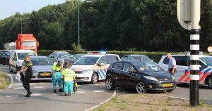 Aanrijding tussen auto en fiets op de C.H. Letschertweg in De Meern