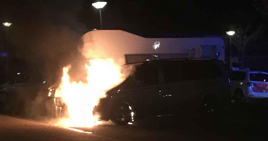 autobrand in Balije (De Meern) - Foto:112mediautrecht