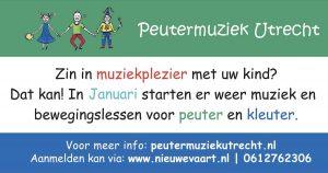 Cursus Muziek en beweging voor dreumesen en peuters @ Muziekschool Vleuten