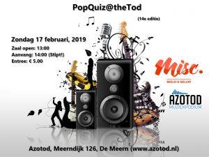 PopQuiz@theTod | editie 14 @ Muziekpodium Azotod