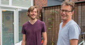 (l) Boris van Lieshout (stagebegeleider) en Eelco Koot (r)