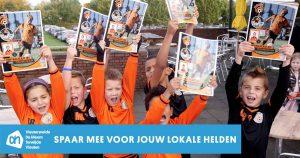 Albert Heijn (AH) voetbalplaatjes spaaractie Vleuterweide | Foto: Martijn Sierhuis