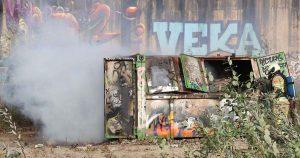 Veel-rook-door-brand-in-afvalcontainer-in-Leidsche-Rijn_foto_112mediautrecht