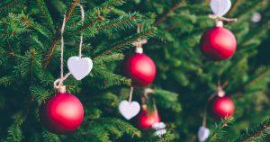 kerst kerstboom met ballen