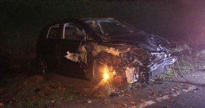 Auto crasht in Vleuterweide. Vluchtende bestuurder aangehouden