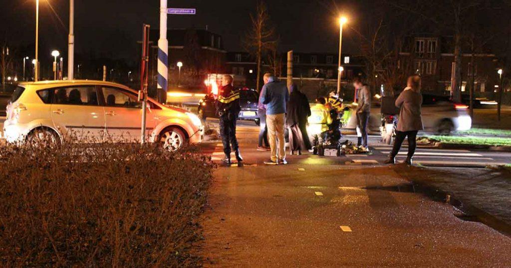 Bezorgscooter-aangereden-door-auto-in-Leidsche-Rijn_foto_112mediautrecht