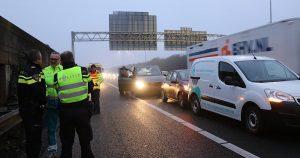 Drie voertuigen botsen op elkaar op A12 1 foto 112mediautrecht