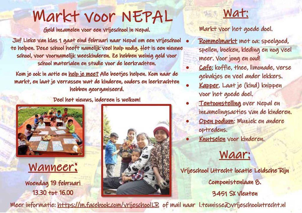 Gezellige markt in Terwijde voor Nepal