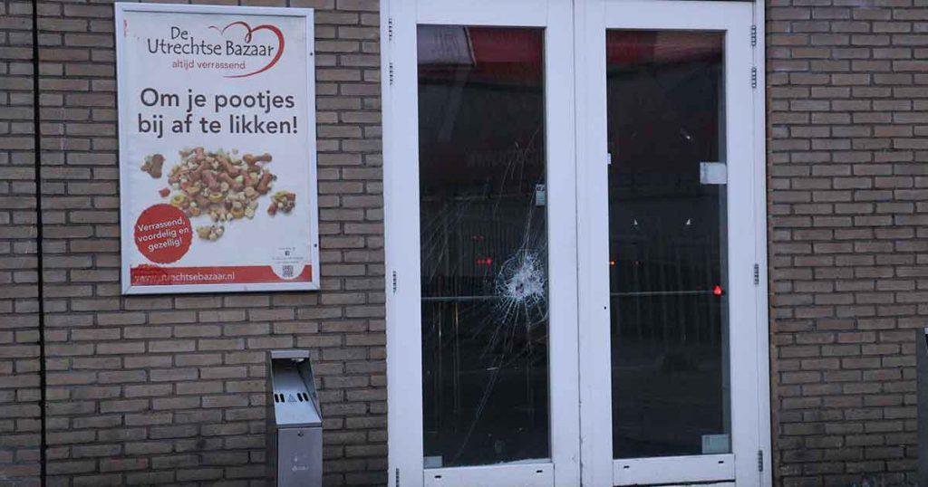 Inbreker gewond door beet van politie hond bij de Utrechtse Bazaar_1_foto_112mediautrecht