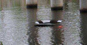 auto kopje onder in Leidsche Rijn_foto_112mediautrecht
