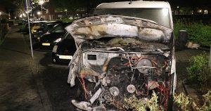 Bestelbus verwoest door brand in De Meern_foto_112mediautrecht