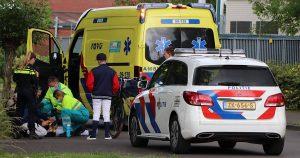 Jongen gewond na val fiets