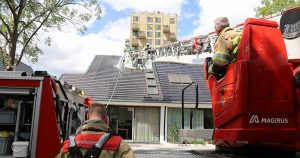 Brand op dak van woning door zonnepanelen in Leidsche Rijn_6_foto_112mediautrecht