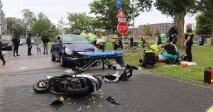 Twee gewonden na aanrijding tussen auto en brommer in Leidsche Rijn _2_foto_112mediautrecht