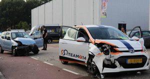 Veel schade na aanrijding op industrieterrein Lage Weide-utrecht-4_foto_112mediautrecht