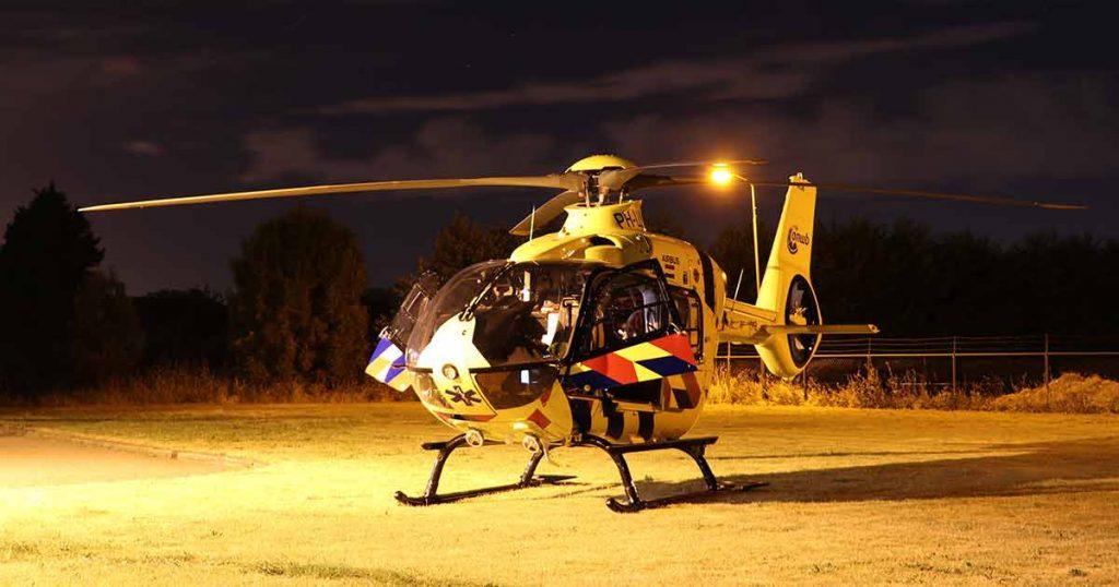 Traumahelikopter Omwonenden vinden zwaar gewonde vrouw met skeelers op straat_3_foto_112mediautrecht