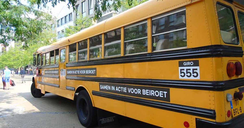 Goede doelen bus Giro555 | Foto Hans Peter van Rietschoten