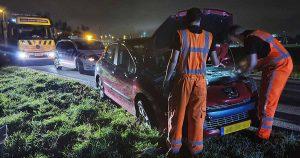 Bestuurder onder invloed aangehouden na eenzijdig ongeval in Utrecht_2 _foto_112mediautrecht