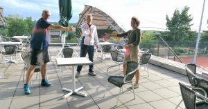 Tennisvereniging P.V.D.V. en LRT heeft een nieuwe samenwerkingsovereenkomst