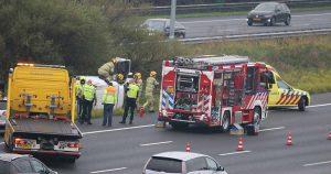2020-04-23_Bestelbusje slaat over de kop op de A12 bij De Meern_foto_112mediautrecht_6