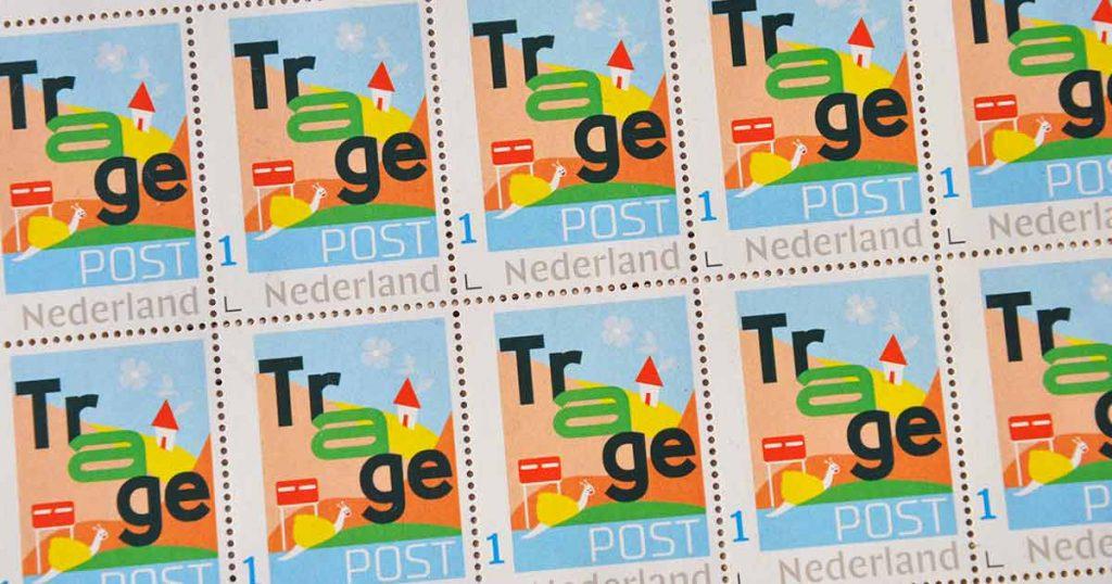 TragePost postzegels