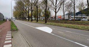 Markering Atoomweg-Campagne Verkeersveilig Lage Weide van start