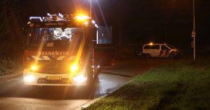 Auto vliegt al rijdend in brand op industrieterrein Lage Weide_foto_112mediautrecht