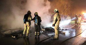 Caravan uitgebrand op Reijerscop tussen De Meern en Harmelen_1_foto_112mediautrecht