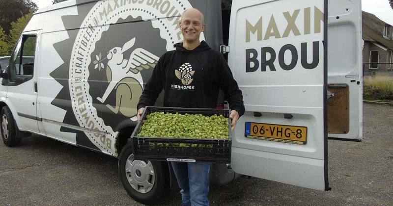 Ewald Visser van Brouwerij Maximus - Hopoogst Maximapark 2018 - Foto Hans Peter van Rietschoten