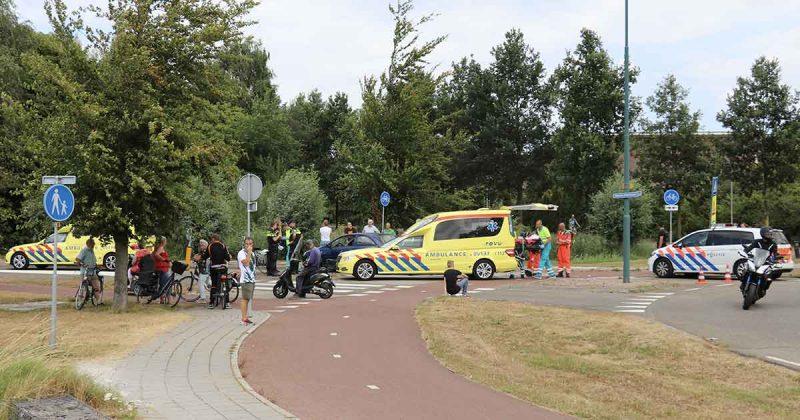 Inzet-traumaheli-bij-ongeluk-tussen-auto-en-e-bike-in-Vleuten-foto_112mediautrecht