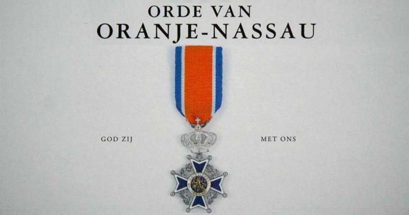 Koninklijke onderscheiding - orde van Oranje Nassau