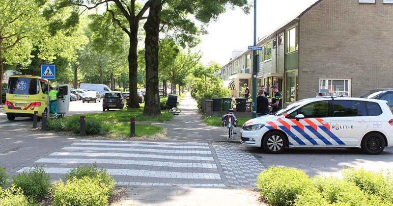 Twee-fietsers-botsen-in-De-Meern,-oudere-vrouw-gewond