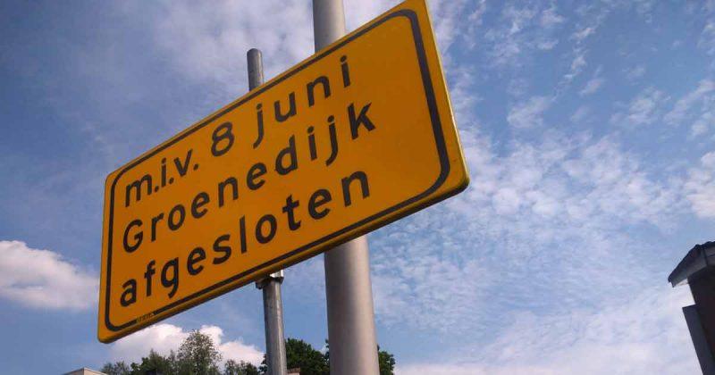 Afsluiting Groenedijk   Foto: Hans Peter van Rietschoten