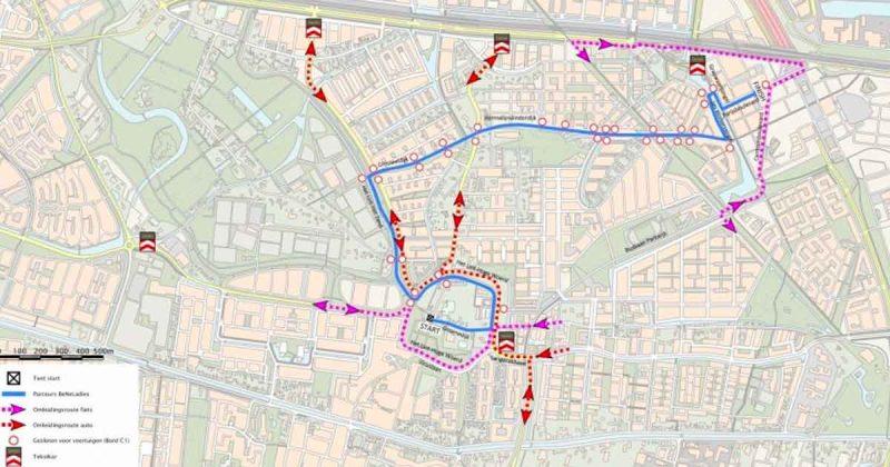 kaart_BeNe-Ladies-Tour-door-Leidsche-Rijn