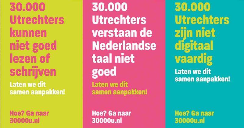 laaggeletterdheid - 30.000 Utrechters