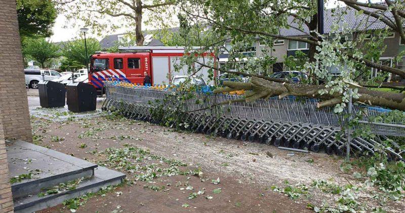 stormschade_boom_valt_op_winkelwagentjes_foto_112mediautrecht
