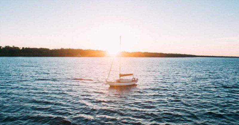 Zeilboot, water